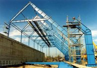 Steel structure of warehouse in Kozienice